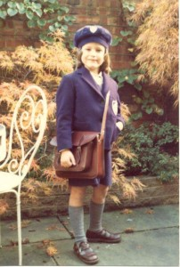Me as a British schoolgirl, age 6