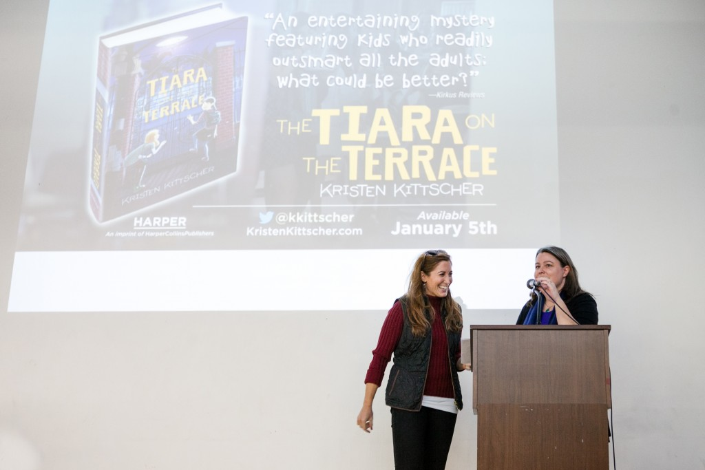 Photo by Joe Alvarez for Russell Gearhart Photography Author Kristen Kittscher's book launch for her middle-grade novel The Tiara on the Terrace, at the Armory Center for the Arts in Pasadena, CA on Jan. 3, 2016.